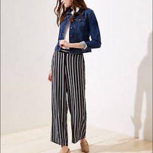 Loft Black & White Striped Pants